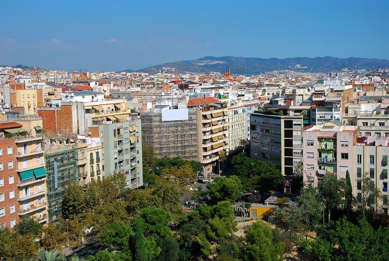 Barcelona sikt royaltyfria bilder