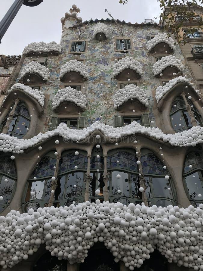 barcelona sikter arkivbilder