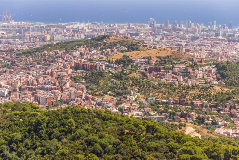 Barcelona skyline Cityscape. Bird's eye view architecture landmark capital Catalonia mediterranean sea stock image