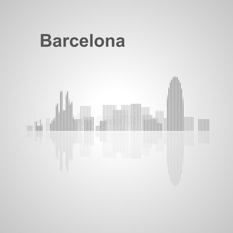 Barcelona-Skyline für Ihr Design stockbild