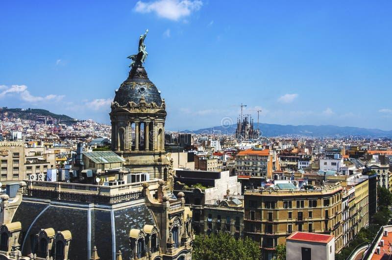 Barcelona skyline, Spain stock photography