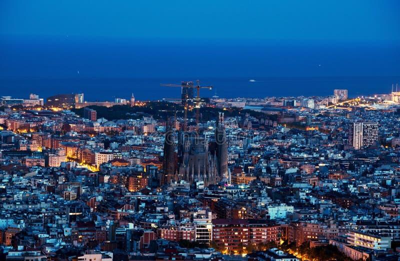 Barcelona skyline, Spain royalty free stock photos