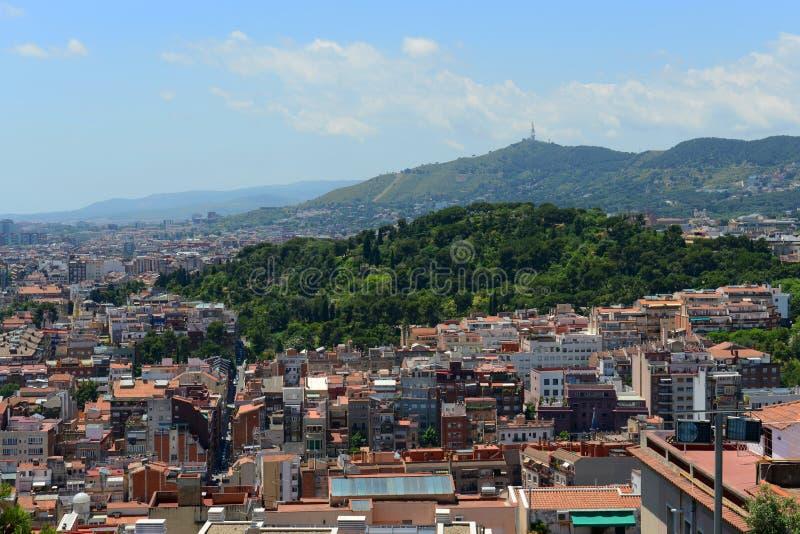 Barcelona skyline, Spain royalty free stock photo