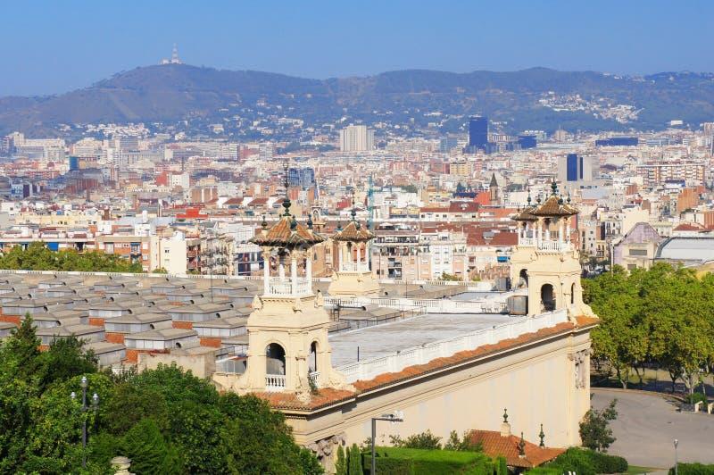 Barcelona skyline view. The Barcelona skyline view,Spain stock photography