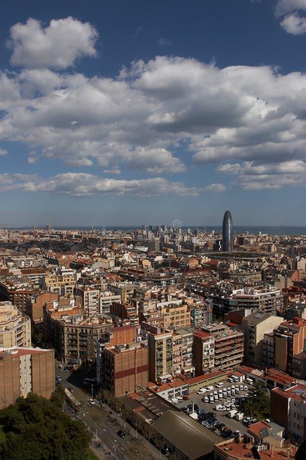 Barcelona Skyview royalty free stock photo