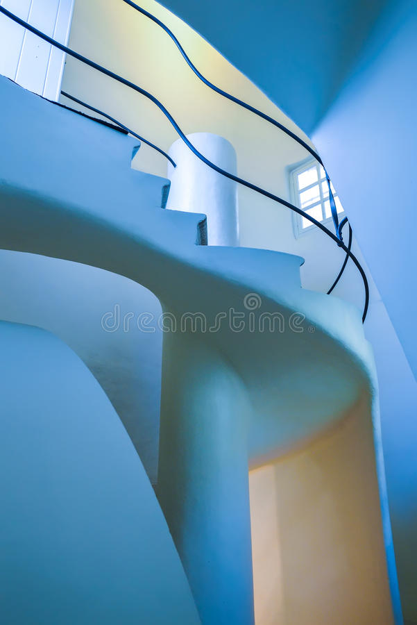 BARCELONA, SPAIN - APRIL 28: Interior of the Casa Batllo in Barcelona on April 28, 2016 in Barcelona, Spain. Interior of the Casa Batllo in Barcelona on April 28 stock images