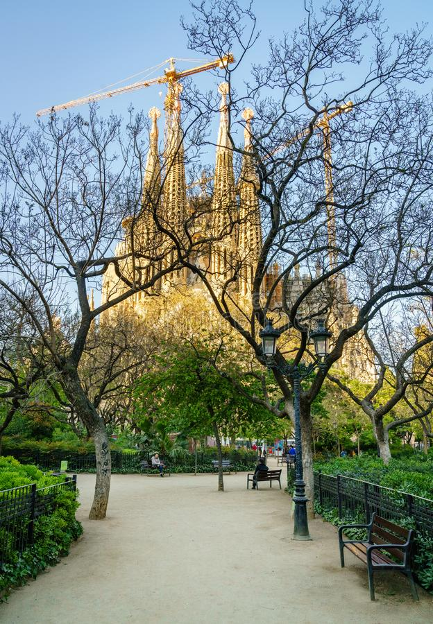 Placa de la Sagrada Familia stock photography