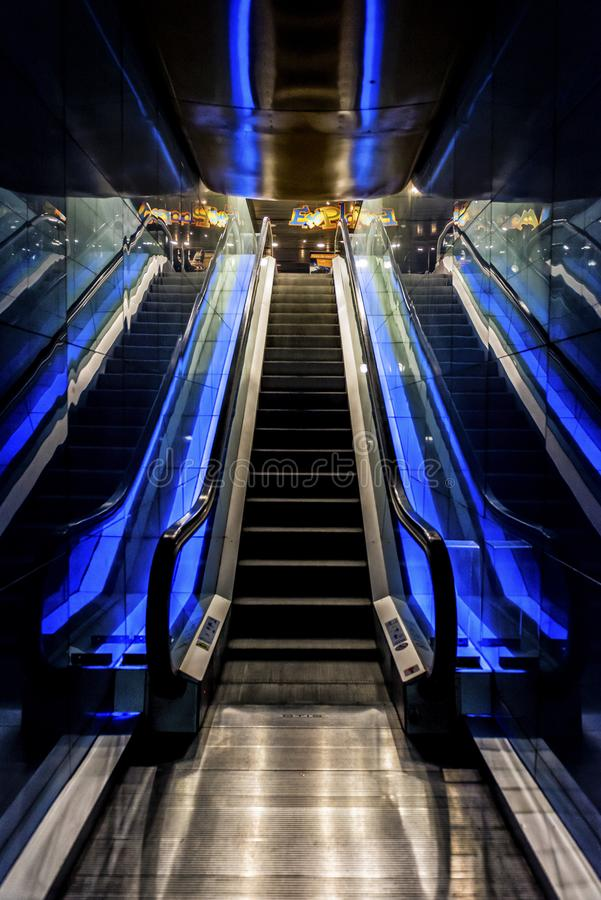 Barcelona Spain, aquarium escalator, Aquarium royalty free stock photo
