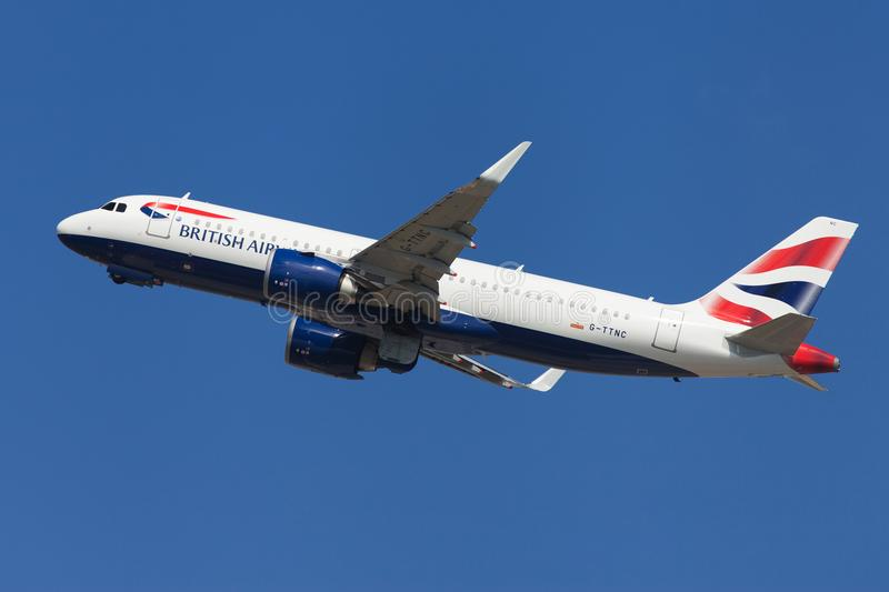 British Airways Airbus A320neo royalty free stock photography