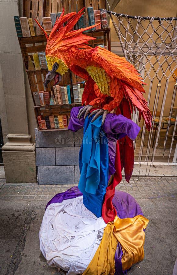 Barcelona, Spain. August 2019: Harry Potter recreation in a street of Gracia Street Festival in Barcelona. royalty free stock photo