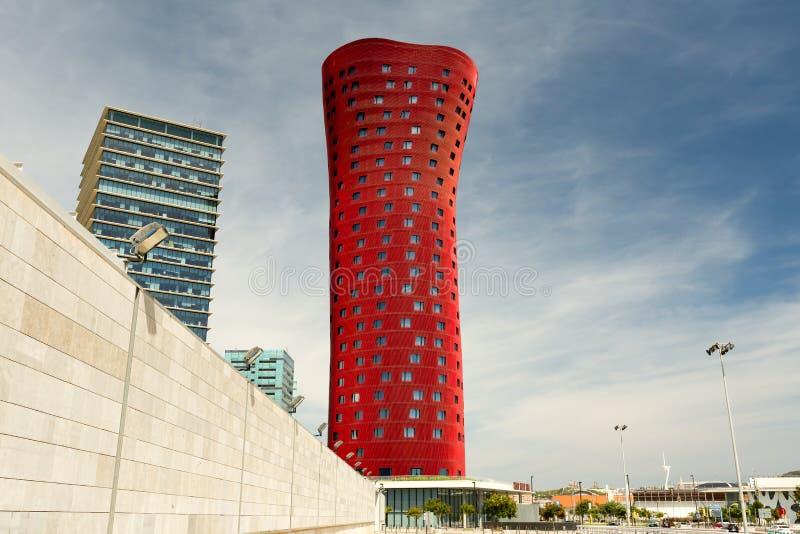 Barcelona, SPAIN - AUGUST 25, 2014: Hotel Porta Fira royalty free stock photo