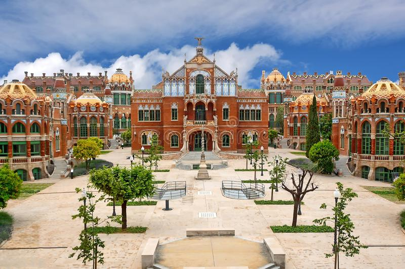 Barcelona, Spain. View Hospital de Sant Pau in Barcelona, Spain stock image