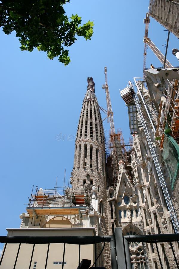 BARCELONA, SPAIN/EUROPE - 1 JUNI: Detail van de bouw van stock afbeelding