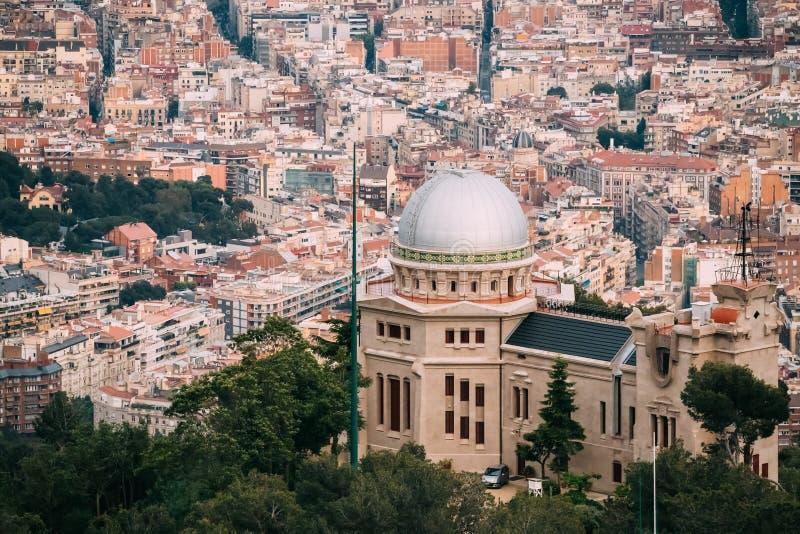 Barcelona, Spain. Fabra Observatory On Cityscape royalty free stock photos