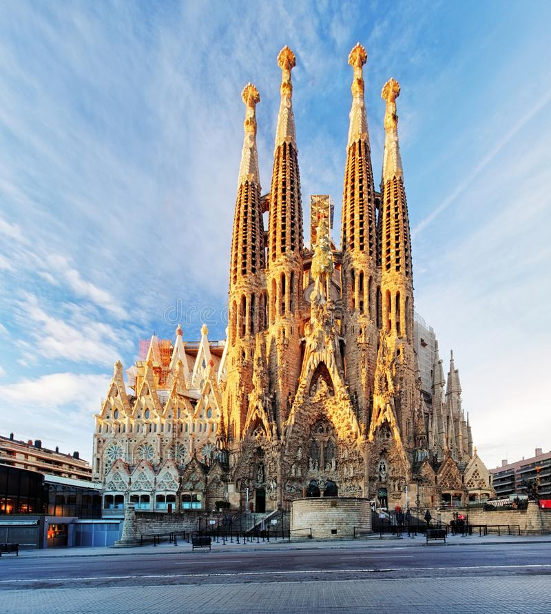 Free BARCELONA, SPAIN - FEBRUARY 10: La Sagrada Familia - The Impressive Cathedral Designed By Gaudi, Which Is Being Build Since 19 Royalty Free Stock Images - 151999599