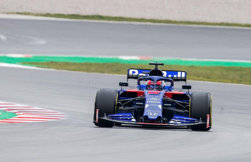 Formula One Test Days 2019 - Danil Kvyat stock photography