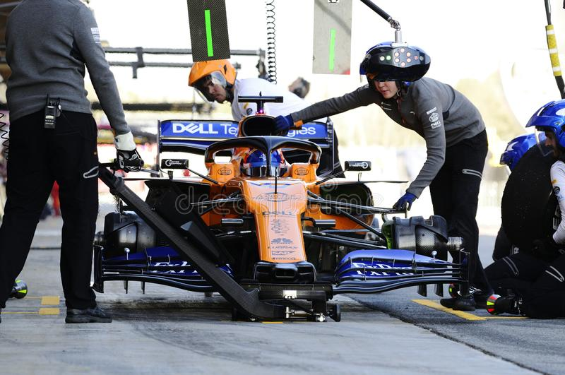 Formula One test stock image