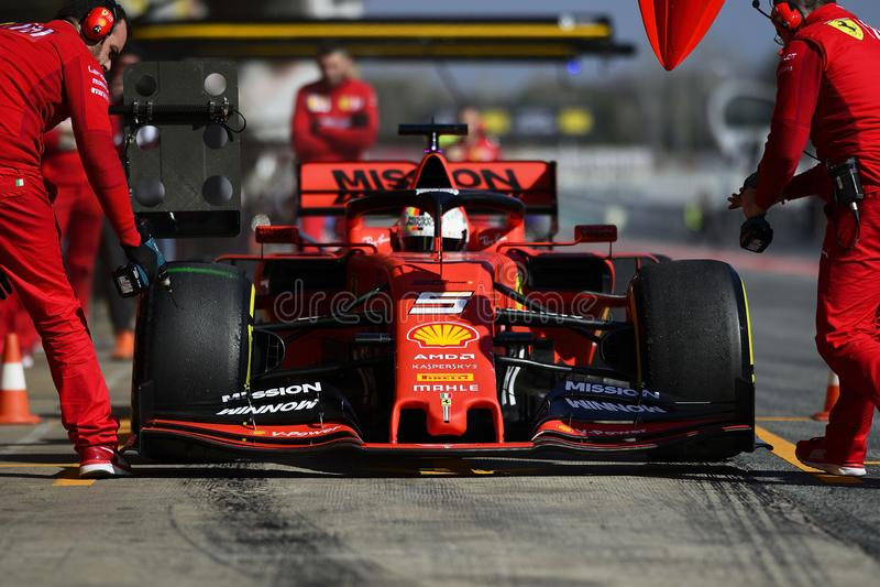 Formula One test stock images
