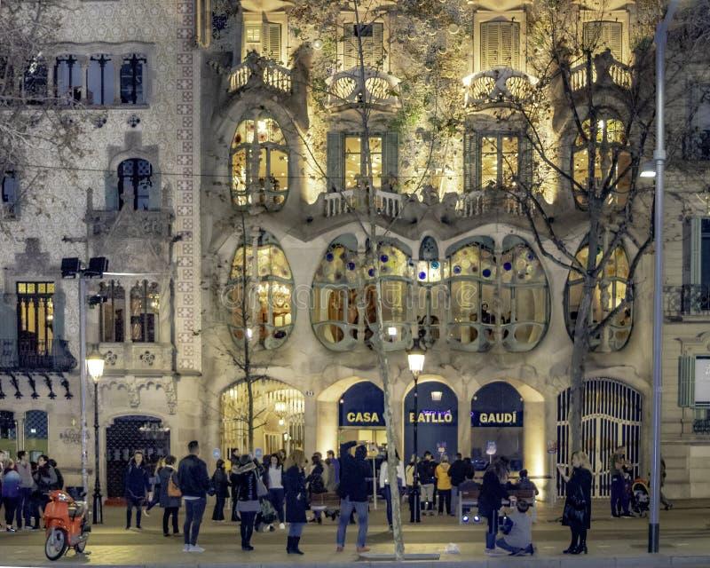 Gaudi Batllo House Building, Barcelona, Spain royalty free stock images