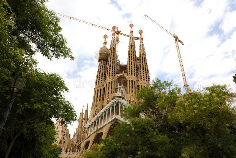 BARCELONA, SPAIN - JULY 12, 2018: The Basilica i Temple Expiatori de la Sagrada Familia, Barcelona, Catalonia, Spain stock photography
