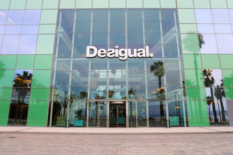 BARCELONA, SPAIN - JULY 11, 2018: Desigual Headquarters near Barceloneta beach in Passeig del Mare Nostrum promenade, Barcelona stock photos
