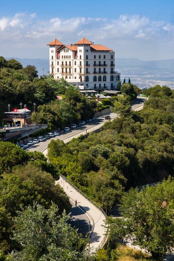 BARCELONA, SPAIN - JULY 13, 2016: Gran Hotel La Florida near Tibidabo, Barcelona,Catalonia, Spain. BARCELONA, SPAIN - JULY 13, 2016: Gran Hotel La Florida near stock images