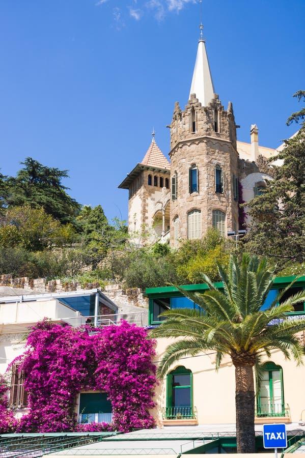 BARCELONA, SPAIN - JULY 13, 2016: Villa at Tibidabo mount. Barcelona, Spain. BARCELONA, SPAIN - JULY 13, 2016: Villa at Tibidabo mount. Barcelona royalty free stock photography