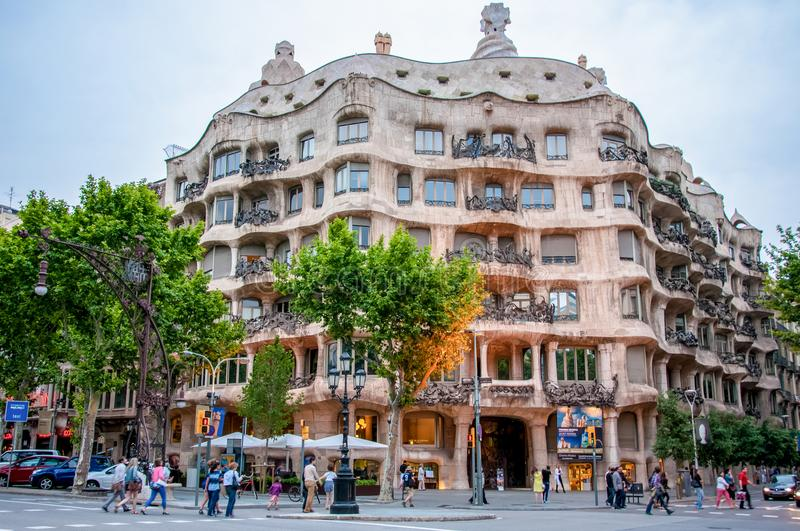 Download Casa Mila - La Pedrera One Of The Landmarks Of Barcelona Editorial Photography - Image of pedrera, street: 108883367