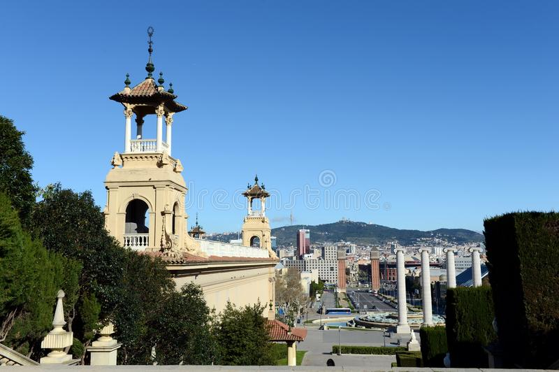 Barcelona is the second largest city in Spain, the capital of the Autonomous region of Catalonia and of the province. City view a royalty free stock photo