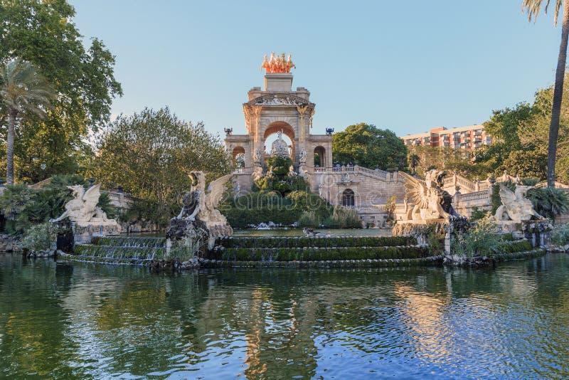 Cascade Fountain in Ciutadella Park, Barcelona stock photo