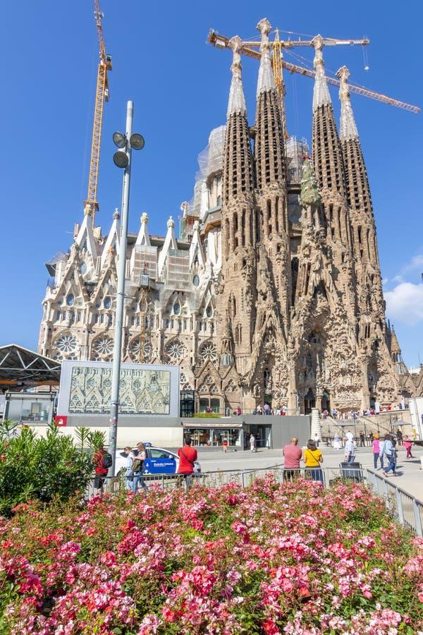 Barcelona, Spain - May 2019: Sagrada Familia Cathedral in spring stock photos