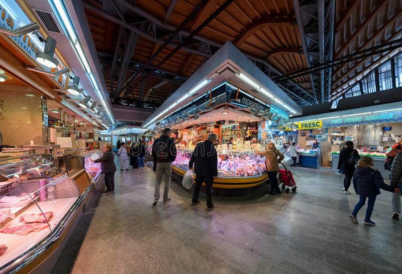 La Boqueria market, Barcelona, Spain royalty free stock photos