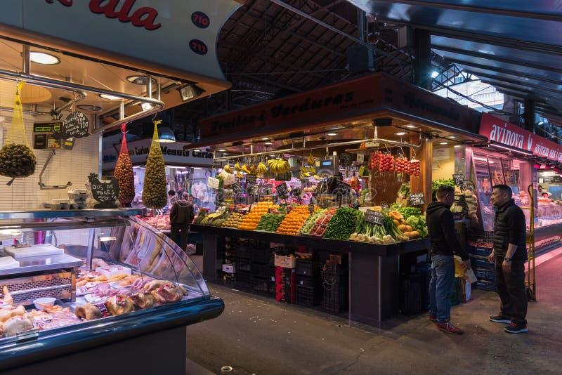 La Boqueria market in Barcelona royalty free stock photos
