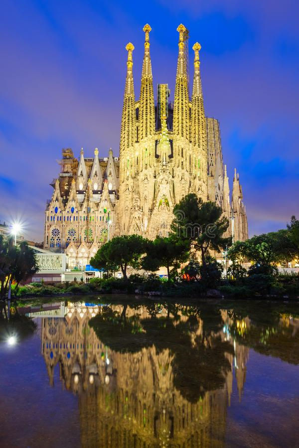 Sagrada Familia cathedral in Barcelona royalty free stock image