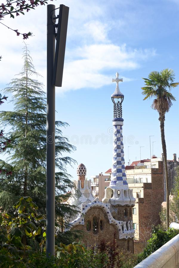 Barcelona, Spain Park Guel stock photo