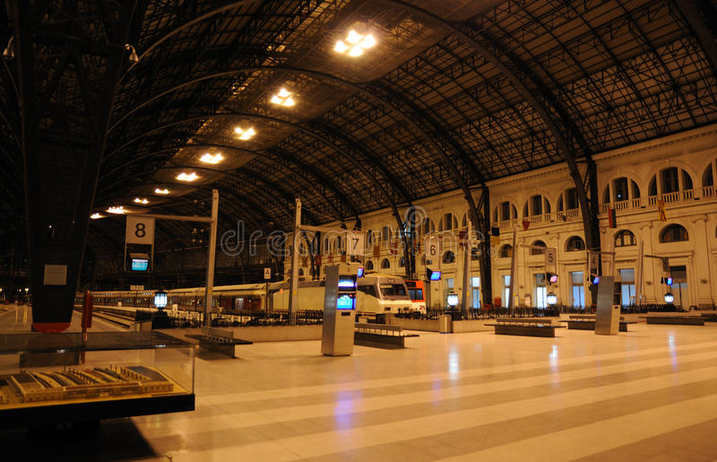 barcelona spain station train στοκ εικόνες