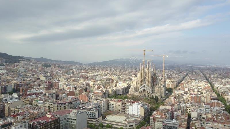 BARCELONA, SPANIEN - APRIL, 15, 2017 Sagrada Familia - Basilika und sühnende Kirche von der heiligen Familie lizenzfreie stockfotografie