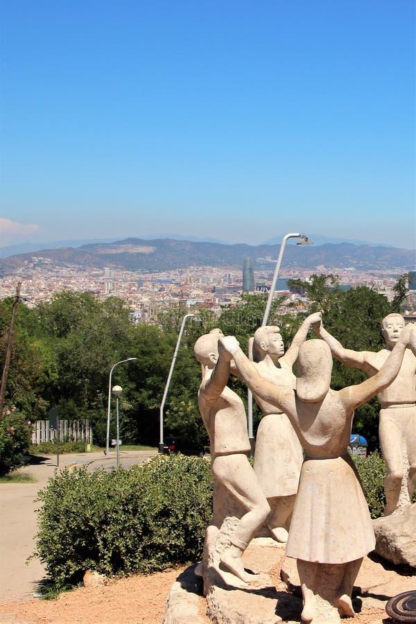 Barcelona Spanien, Augusti 2016 E arkivbild