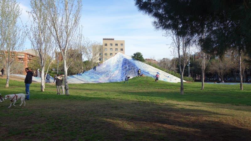 Barcelona-Spanien 27. März 2017 - Ciutadella-Park, schönes DA lizenzfreie stockbilder