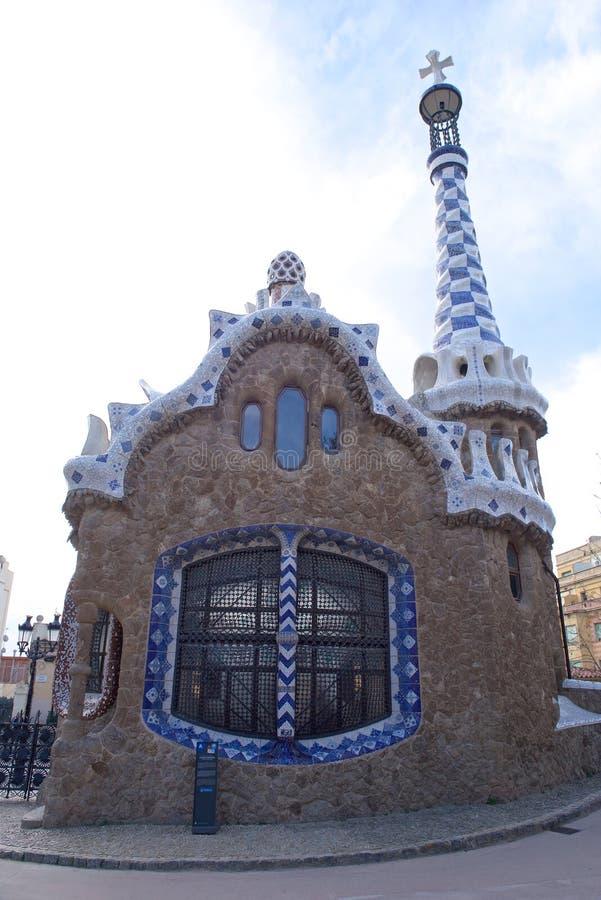 Barcelona Spanien parkerar Guel arkivfoton