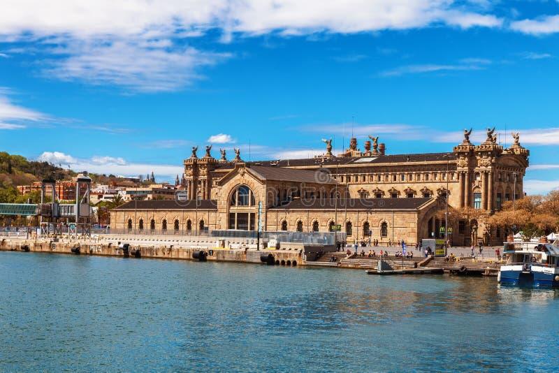 Barcelona, Spanje - April 17, 2016: Maritiem Overzees Museum royalty-vrije stock afbeeldingen