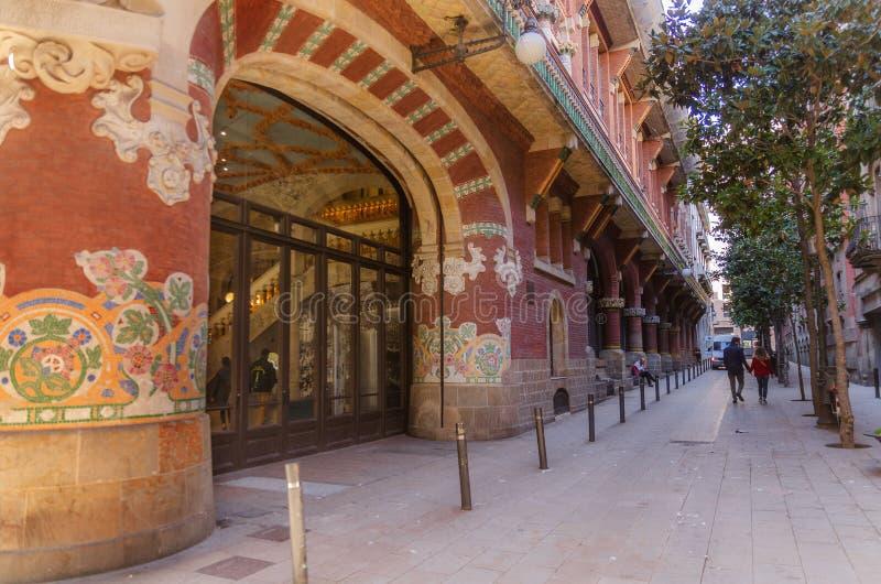 Barcelona, Spanje, het Paleis van Catalaanse muziek royalty-vrije stock fotografie