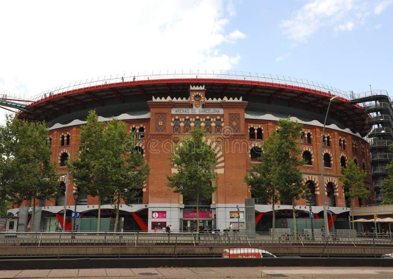 BARCELONA, SPANJE - JULI 13, 2018: De arena's DE Barcelona is een shopp stock foto