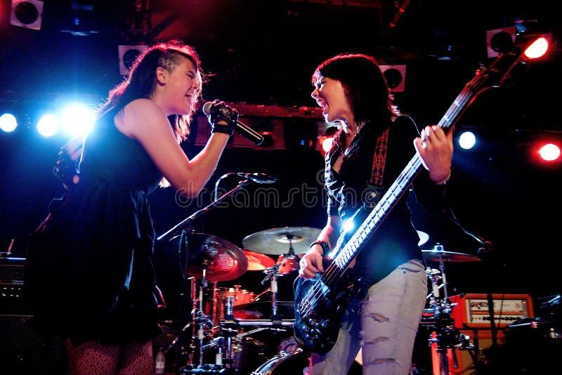 De band van Everlose presteert in Razzmatazz stock foto