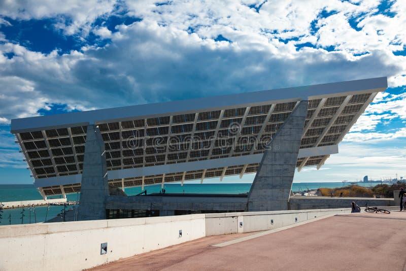 Plastische photovoltaic plaat. Barcelona stock afbeeldingen