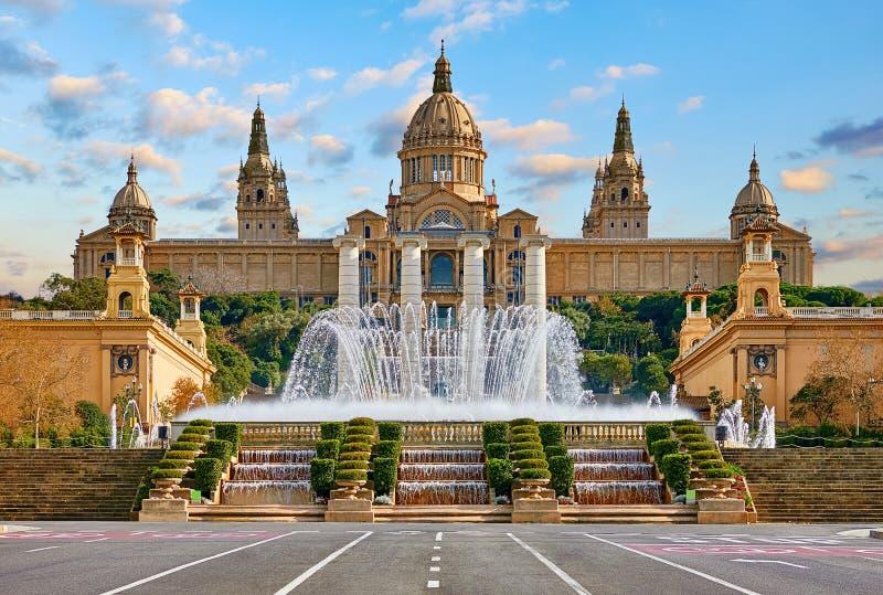 Barcelona, Spanje Nationaal Paleismuseum van Barcelona stock afbeeldingen