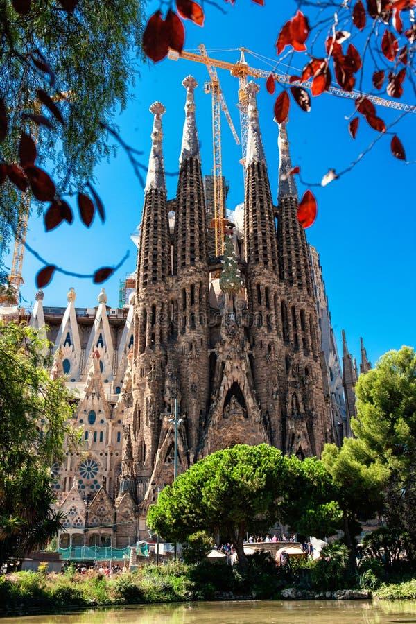 BARCELONA, SPANJE - September 10, 2017: La Sagrada Familia - Catho stock afbeeldingen