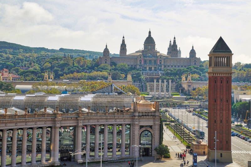 Barcelona, 16 Spanje-September, 2017: Barcelona Plaza DE Espana royalty-vrije stock foto