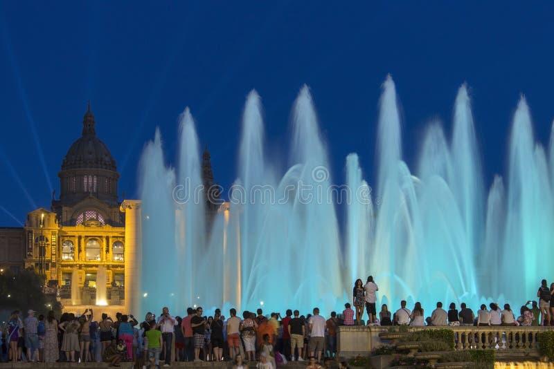 Barcelona - springbrunnar - Spanien