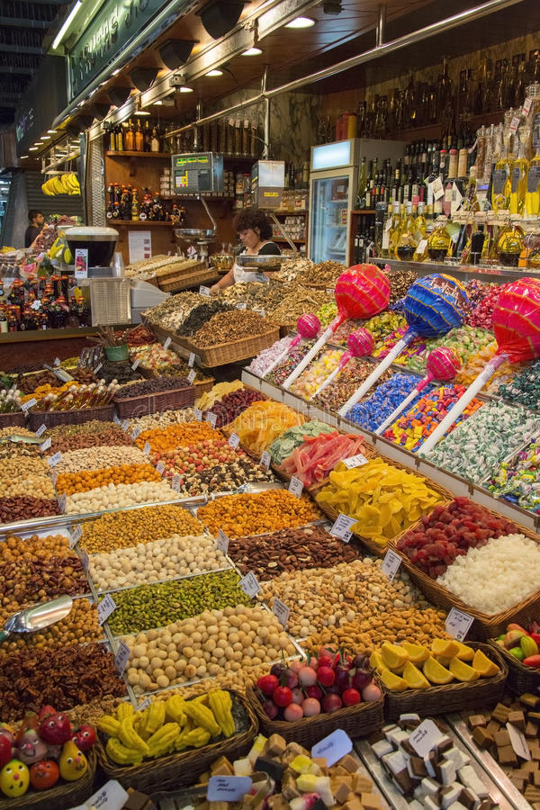 Barcelona - St Joseph Food Market - Spain. stock image